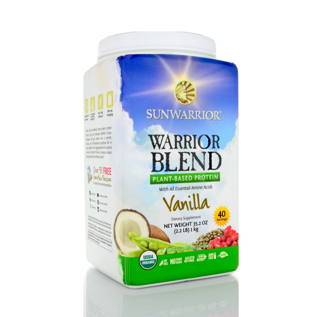 Sunwarrior Warrior Blend Protein Powder - Vanilla, 1.65 lbs
