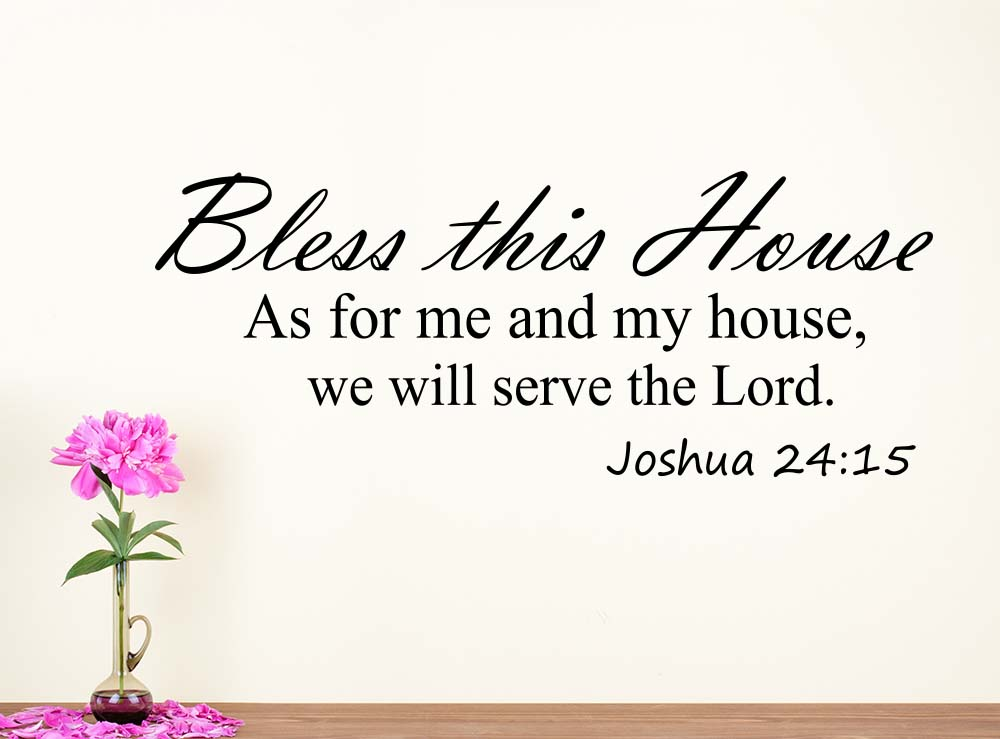 Wall Decal Bless This House As For Me And My House Religious Inspirational  Love Vinyl Quote