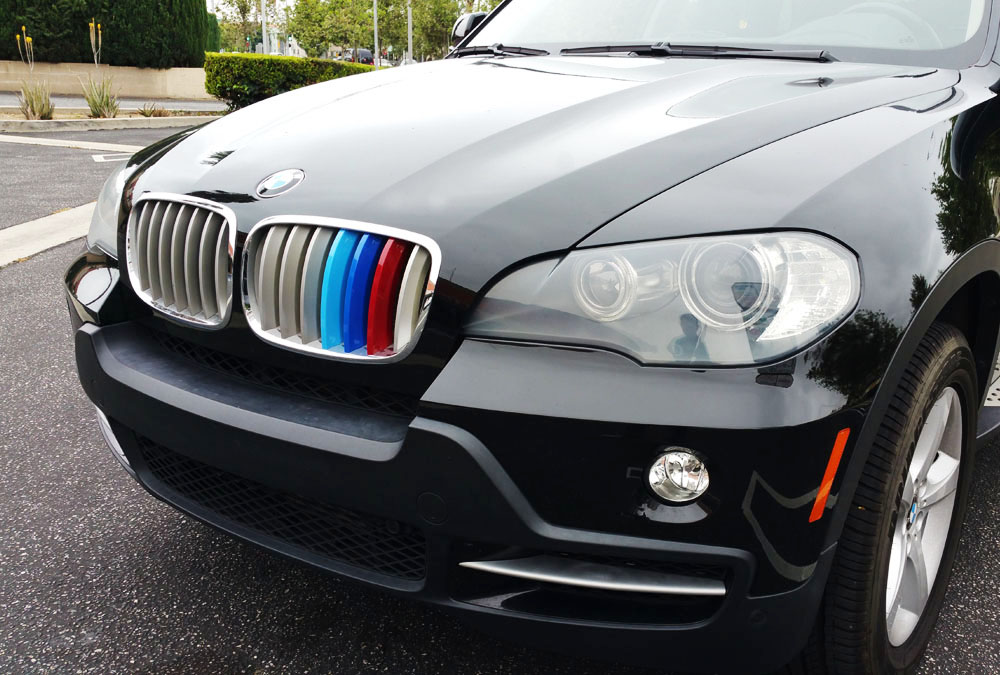 for BMW 2008-2013 X5, 2008-2011 X6 Jackey Awesome Exact Fit //////M-Colored Grille Insert Trims for BMW 2008-2013 E70 X5 and 2008-2011 E71 X6 with M-Performance Black Kidney Grill