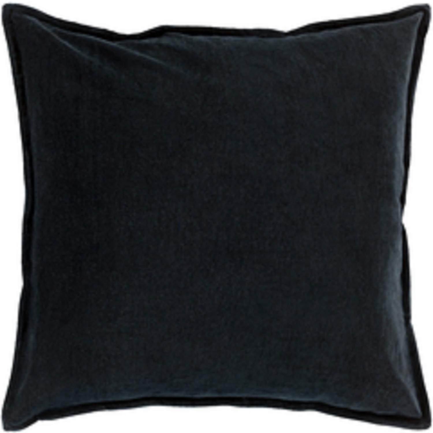 "20"" Charcoal Black Contemporary Woven Decorative Throw Pillow –Down Filler"