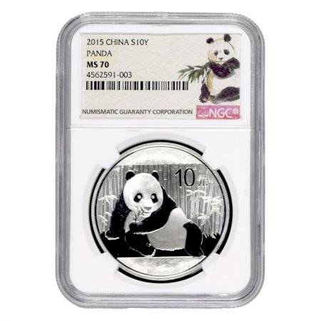 Chinese Silver Coin (2015 Chinese Silver Panda NGC MS-70 1 oz Coin - Ink Brush Label)