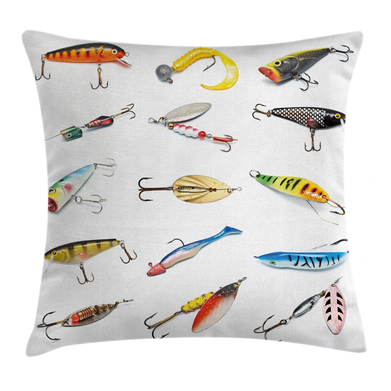 Fish Print 16x16 Indooroutdoor pillow cover with zipper