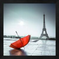 "Great Art Now Red Umbrella by Assaf Frank Framed Wall Art 13""W x 13""H"