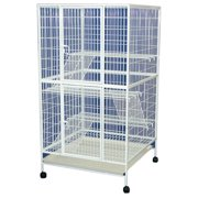 YML 35 in. 4 Levels Small Animal Cage With Wire Bottom Grate and Plastic Tray