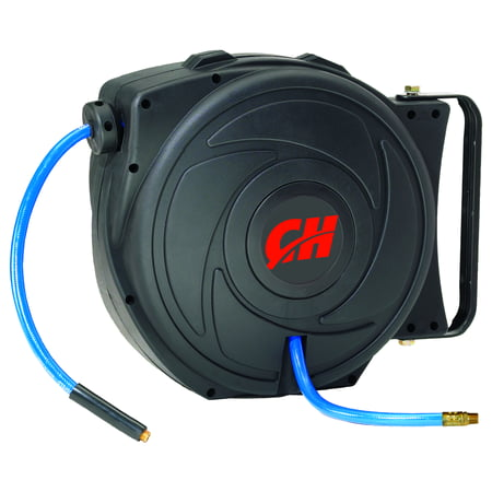 Campbell Hausfeld Retractable Hose Reel, 50 ft Air Hose -