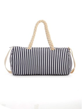 253f0d68d51 Product Image No Boundaries Navy Stripe Rope Handle Duffle Bag