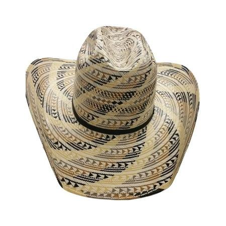 American Cowboy Hat Mens Straw Cattleman Multi-Color (Cattleman Straw Cowboy Hat)