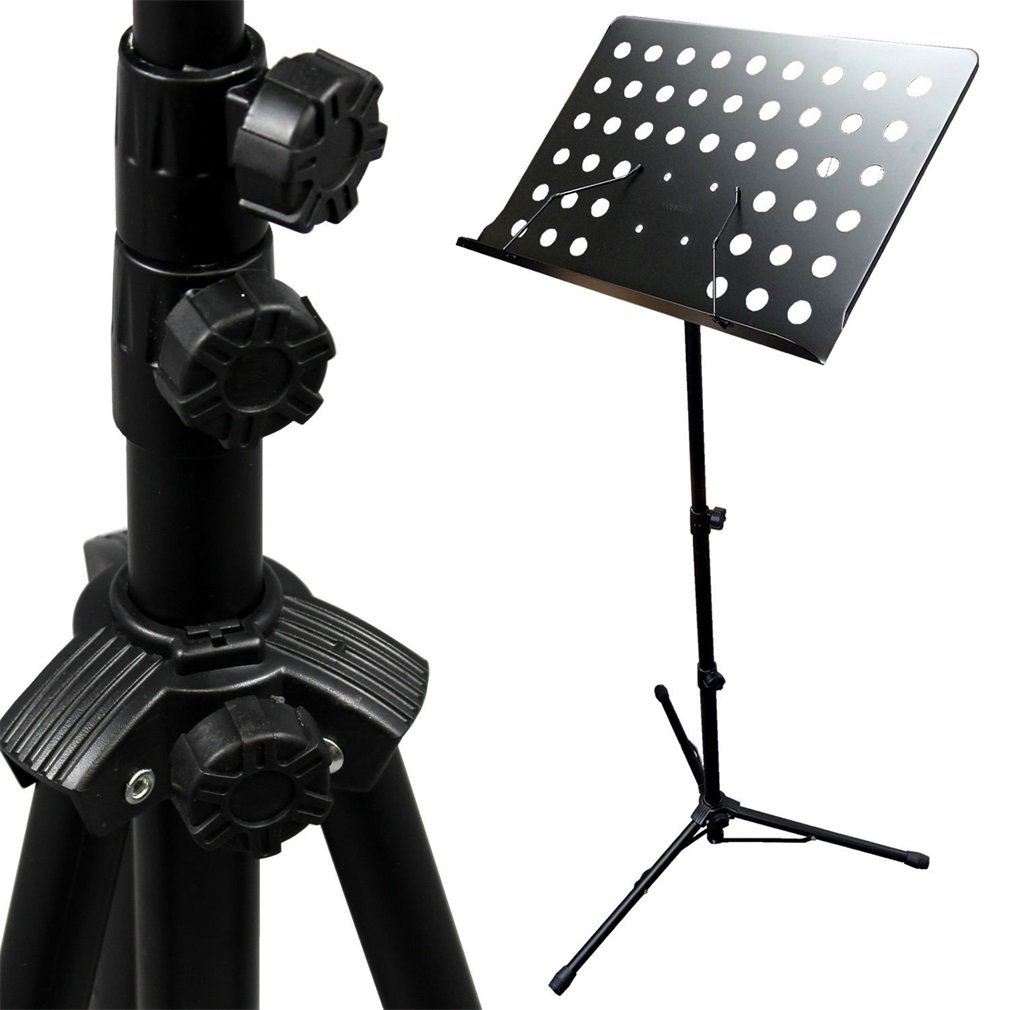 Click here to buy Adjustable Music Conductor Stand Folding SHeet Music Stand Metal Music Holder by Oakeskaran.