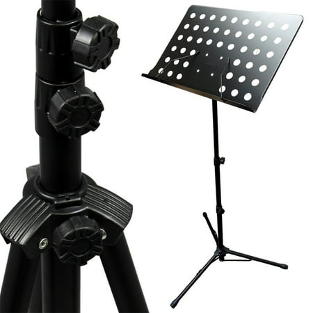 Adjustable Music Conductor Stand Folding Sheet Music Stand Metal Music