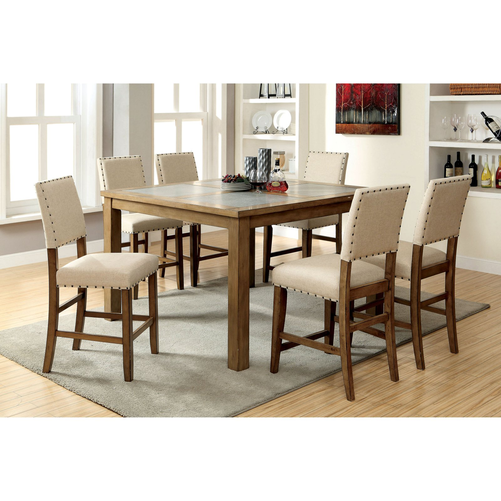 Furniture of America Kincade Counter Height Dining Table