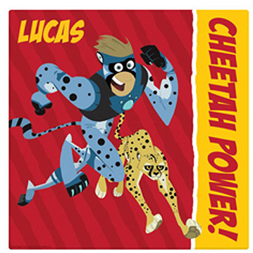 "Personalized Wild Kratts Cheetah Power 16"" x 16"" Canvas Wall Art"
