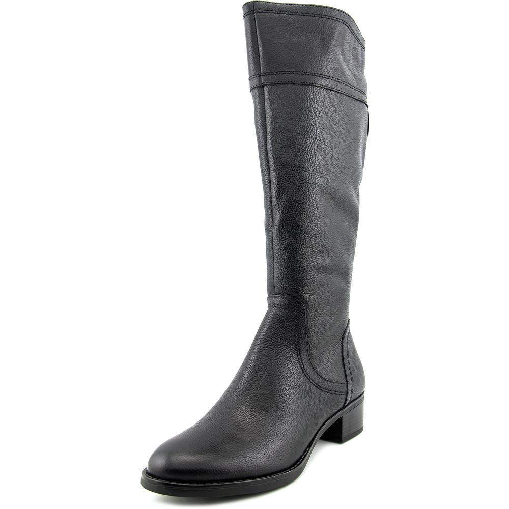 Franco Sarto Carlano Women Round Toe Leather Black Knee High Boot by Franco Sarto