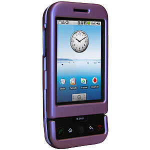 Premium Rubberized Purple Snap On Hard Shell Case for HTC Dream