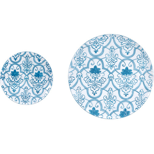 Wilco Home Metal Wall Decor Plates (Set of 2)