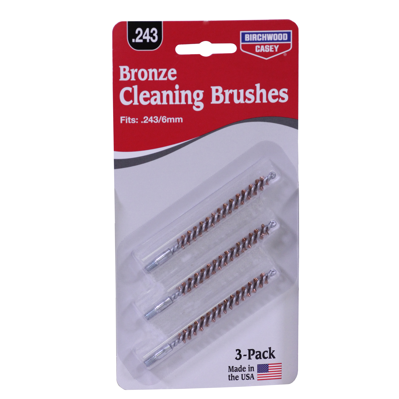Birchwood Casey Bronze Brush, .243/6 mm, .257 Caliber, 3-Pack
