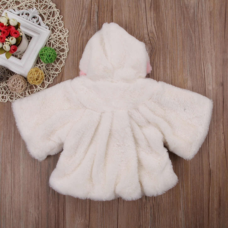 Cute Newborn Baby Toddler Kids Girls Winter Hooded Coat Outerwear Jacket Clothes