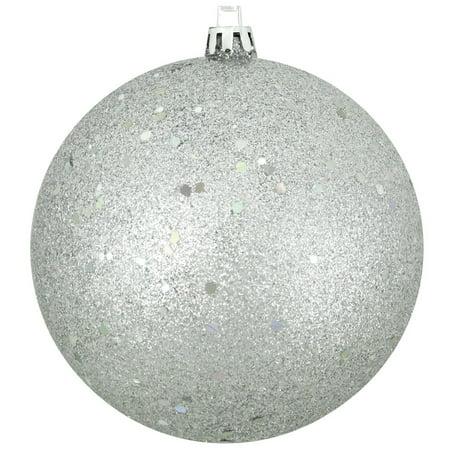 Silver Splendor Shatterproof Holographic Glitter Christmas Ornament 4