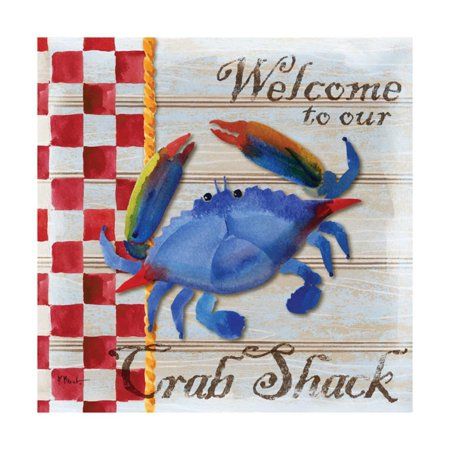 Chesapeake Crab Print Wall Art By Paul Brent