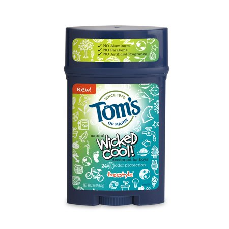 Tom's of Maine Wicked Cool Boy's Deodorant Stick, Freestyle, 2.25 (Best Natural Deodorant For Kids)