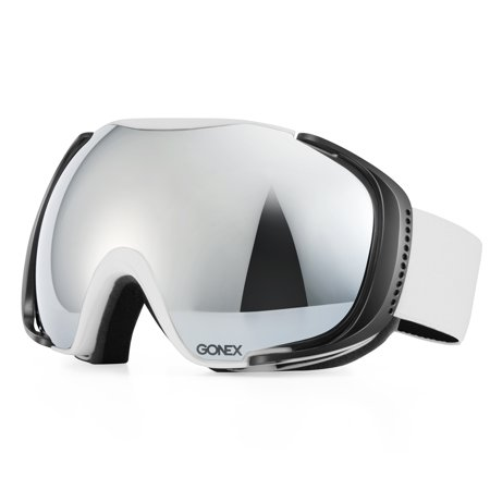 Gonex Polarized Ski Goggles Anti-fog Anti-glare Snow Goggle UV400 Protection with Oversized Double Spherical Lens