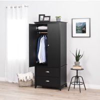 Prepac Yaletown Armoire, Black (Box 1 of 2)