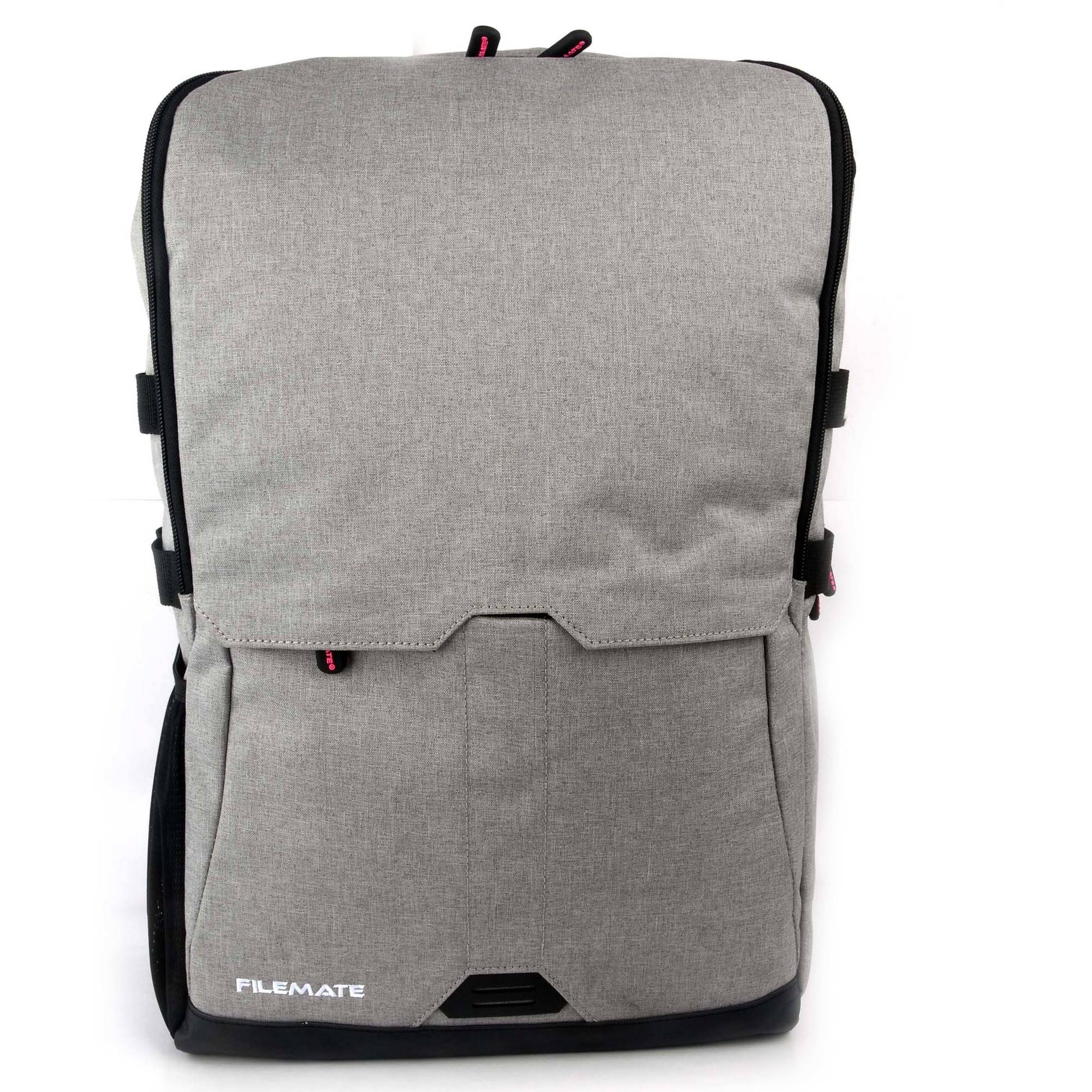 "FileMate Contempo Padded RFID Protected 15.6"" Laptop Computer BackPack with 2 Acessory Pockets, Grey"