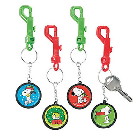 Peanuts Snoopy Christmas Backpack Clips / Favors (4ct) - Snoopy Party Ideas