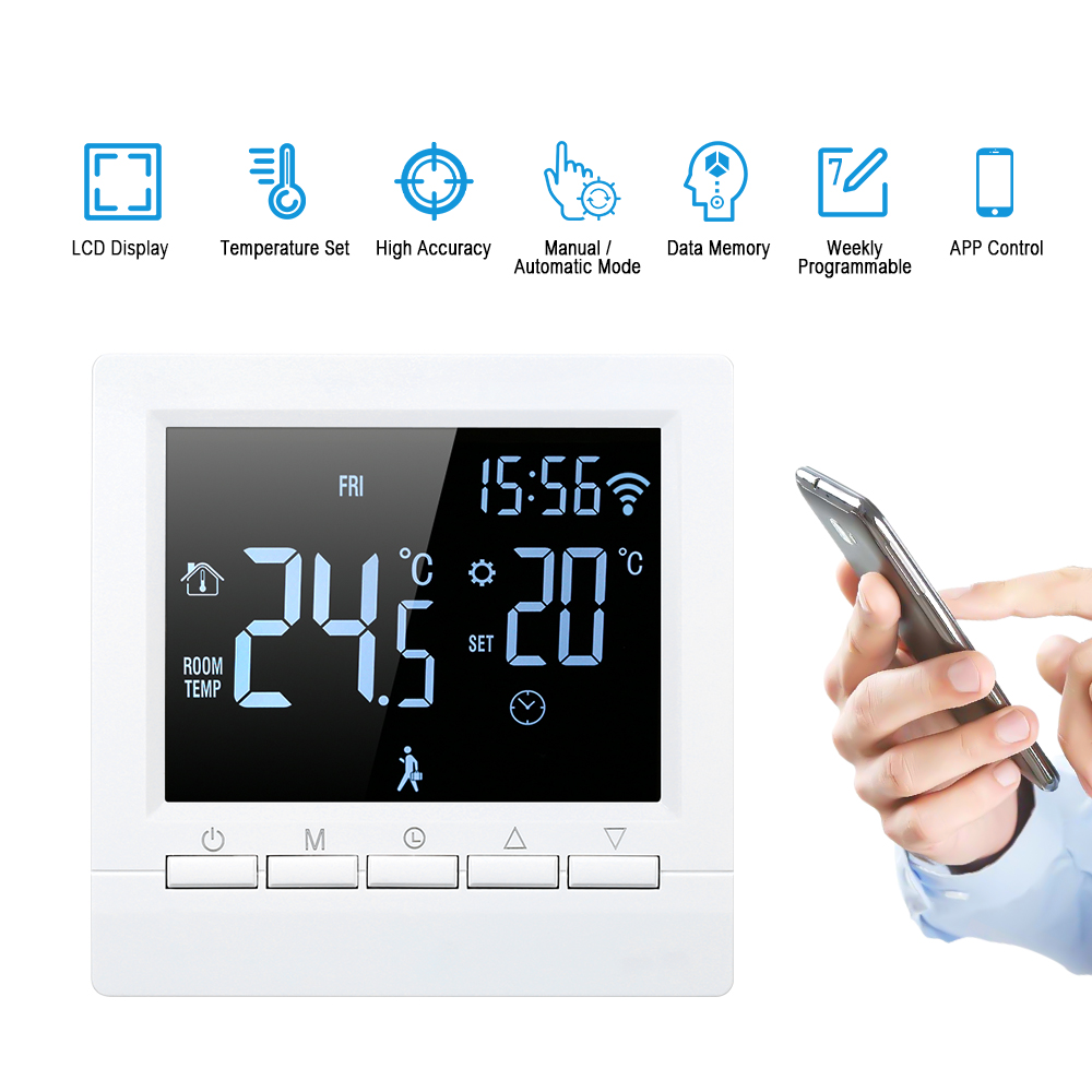 86MM Car Digital LED Electronic Time Clock Thermometer Car Dashboard Thermometer Clock Blue Backlight Button Battery Style Electronic Digital Clock