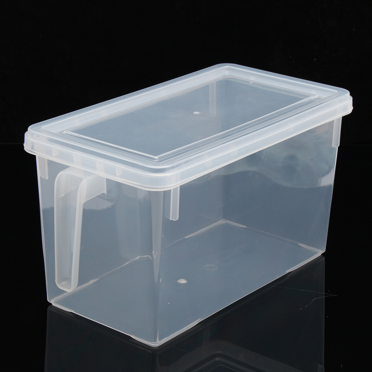 4.7L Clear Organizer Storage Bin With Handle Idear For
