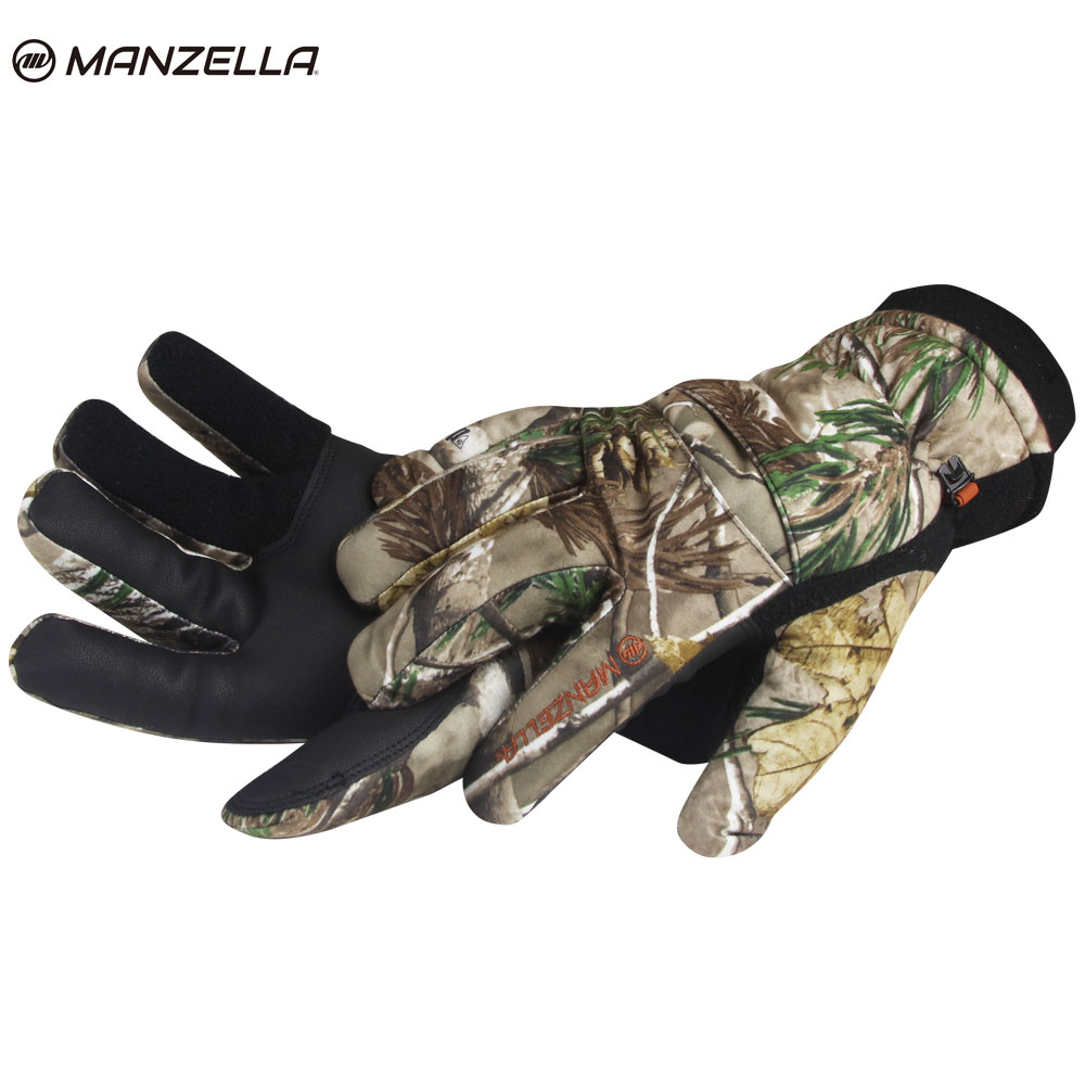 Manzella Insulated Tricot Hunting Gloves (L XL)- RTAP by