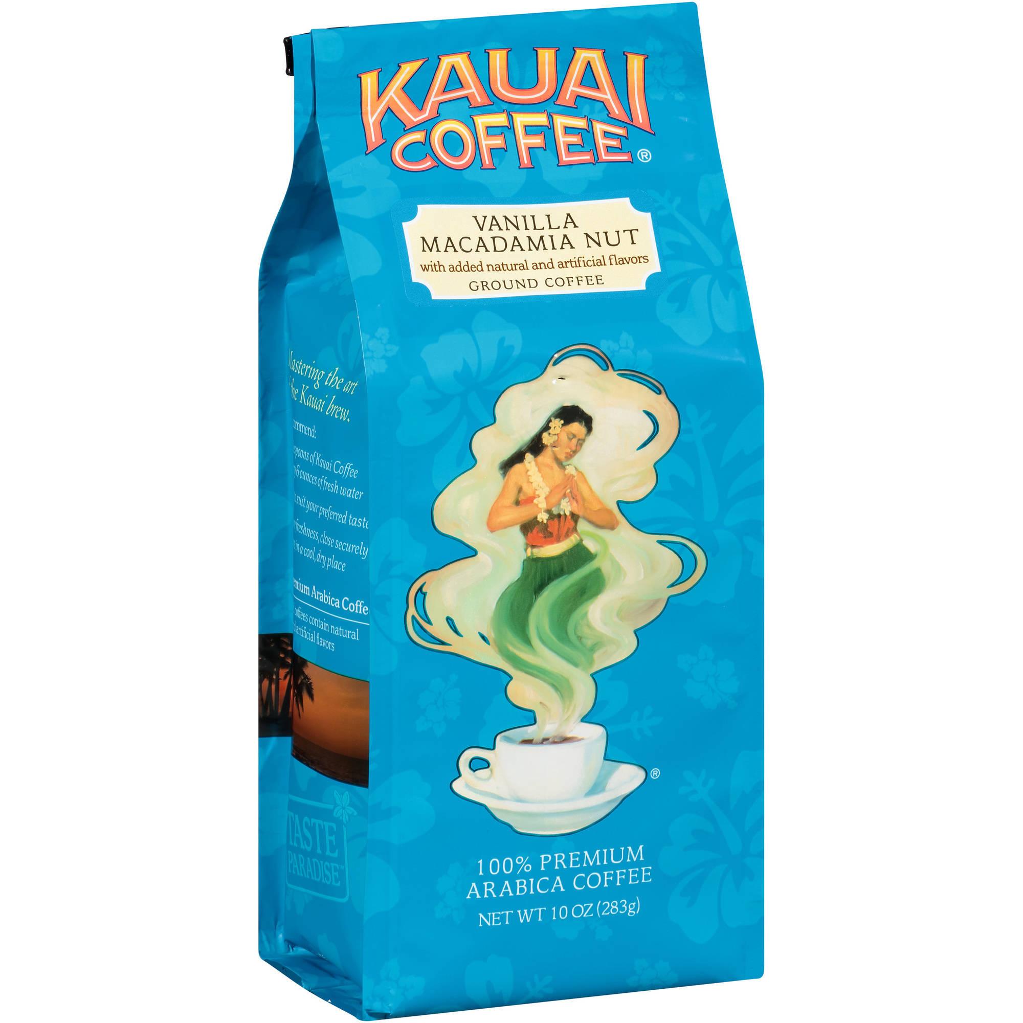 Kauai Coffee Vanilla Macadamia Nut Ground Coffee, 10 oz