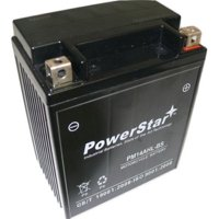 14AHL-BS Powersports Battery - Replaces: ETX15L, YTX14AHL-BS, GTX14AHL-BS