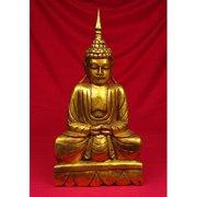 Miami Mumbai Wood Carvings Brass Series Thai Buddha Statue