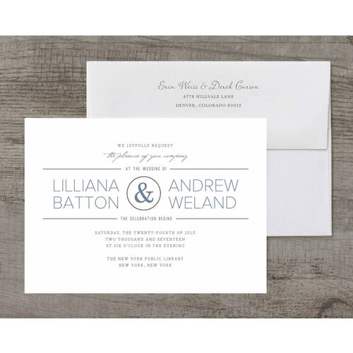 Elegant Ampersand Deluxe Wedding Invitation