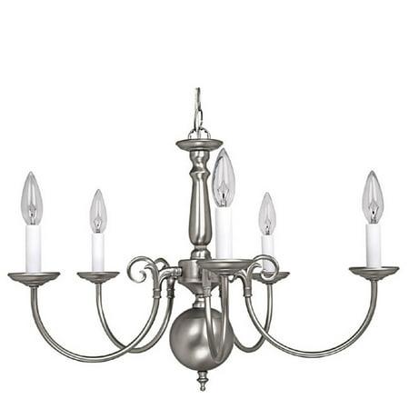 Capital Lighting  Matte Nickel 5 Light Chandelier