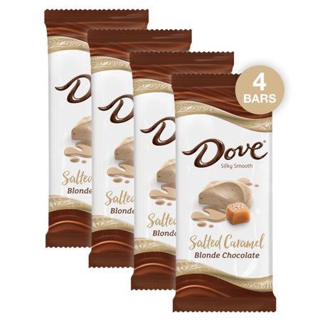 (4 pack) Dove Salted Caramel Blonde Chocolate Candy Bar, 3.3 Oz