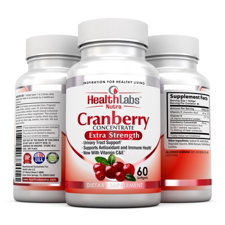 Health Labs Nutra 50 1 Triple Strength Cranberry Concentrate With Vitamins C   E For Maximum Urinary Health Protection And Strong Immunity  Pack Of 3