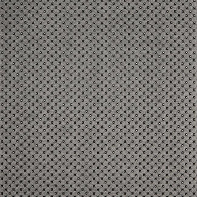 Designer Fabrics G665 54 in. Wide Silver, Metallic Tufted Upholstery Faux Leather
