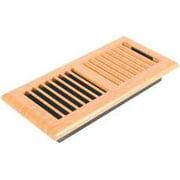 Louvered Light Oak Plastic Floor Register, 4 In. X 10 In.