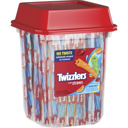 - (2 Pack) Twizzlers, Rainbow Twists Licorice Chewy Candy, 27.5 Oz