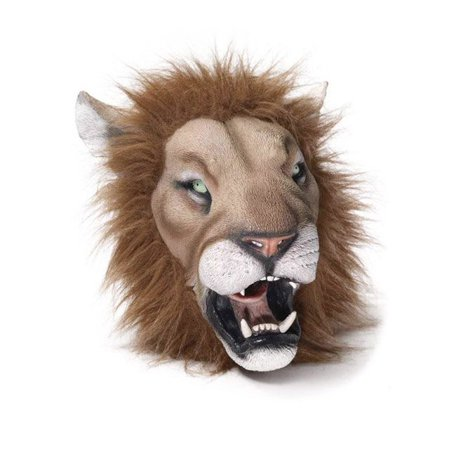 Latex Lion Deluxe Mask - Lion Mask