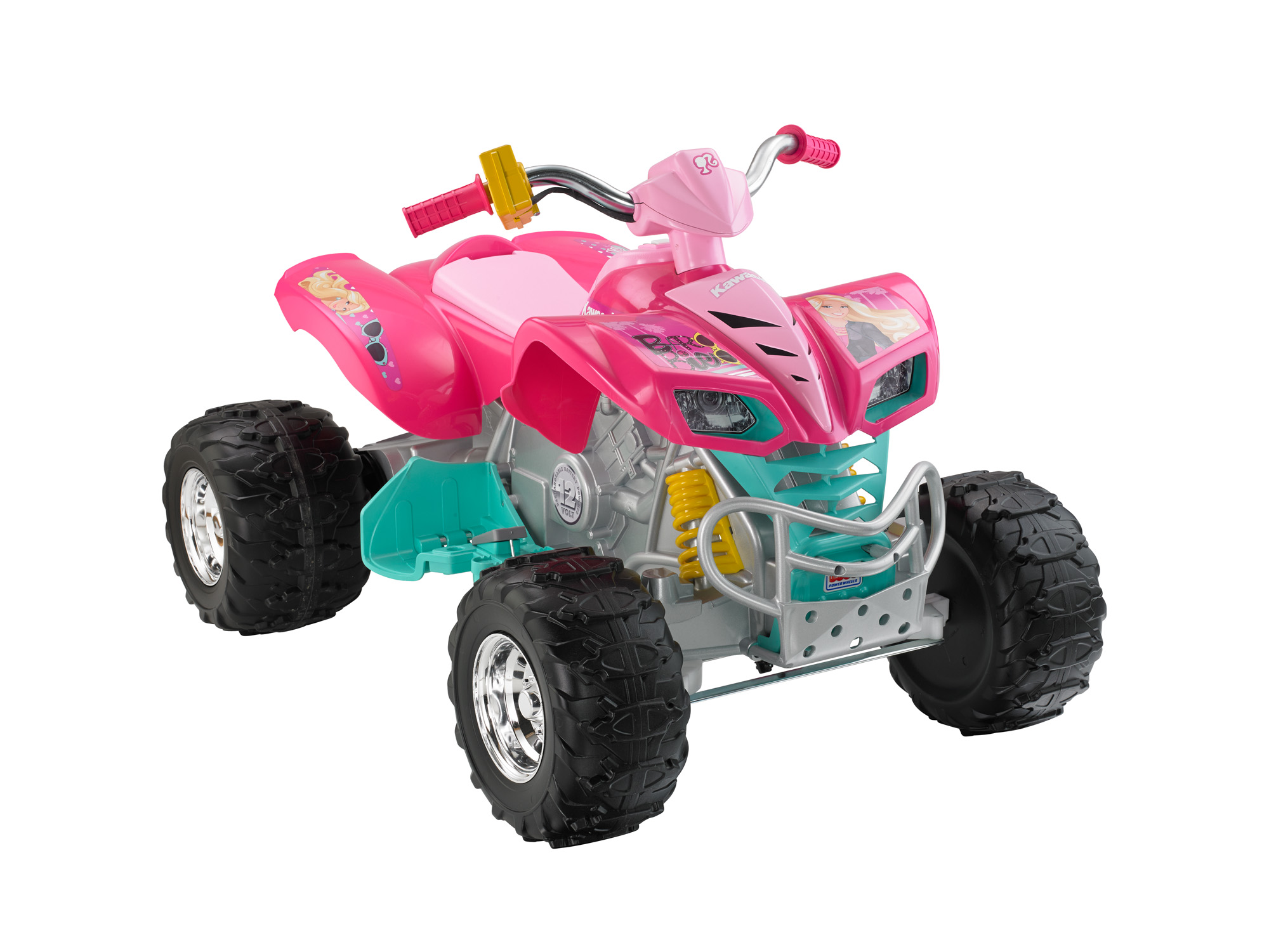 kids power wheels barbie kfx 12 volt battery powered ride on quad atv 12v toy ebay. Black Bedroom Furniture Sets. Home Design Ideas