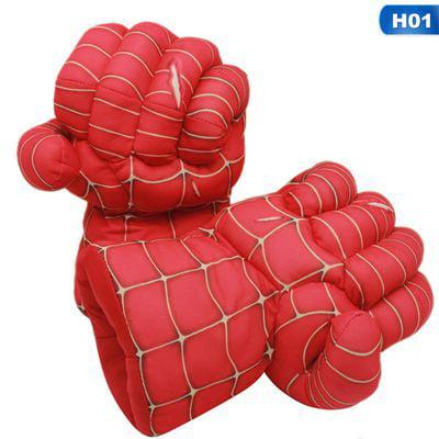 The Hulk Gloves (KABOER 2pcs/1set Plush The Incredible Hulk Gloves 11