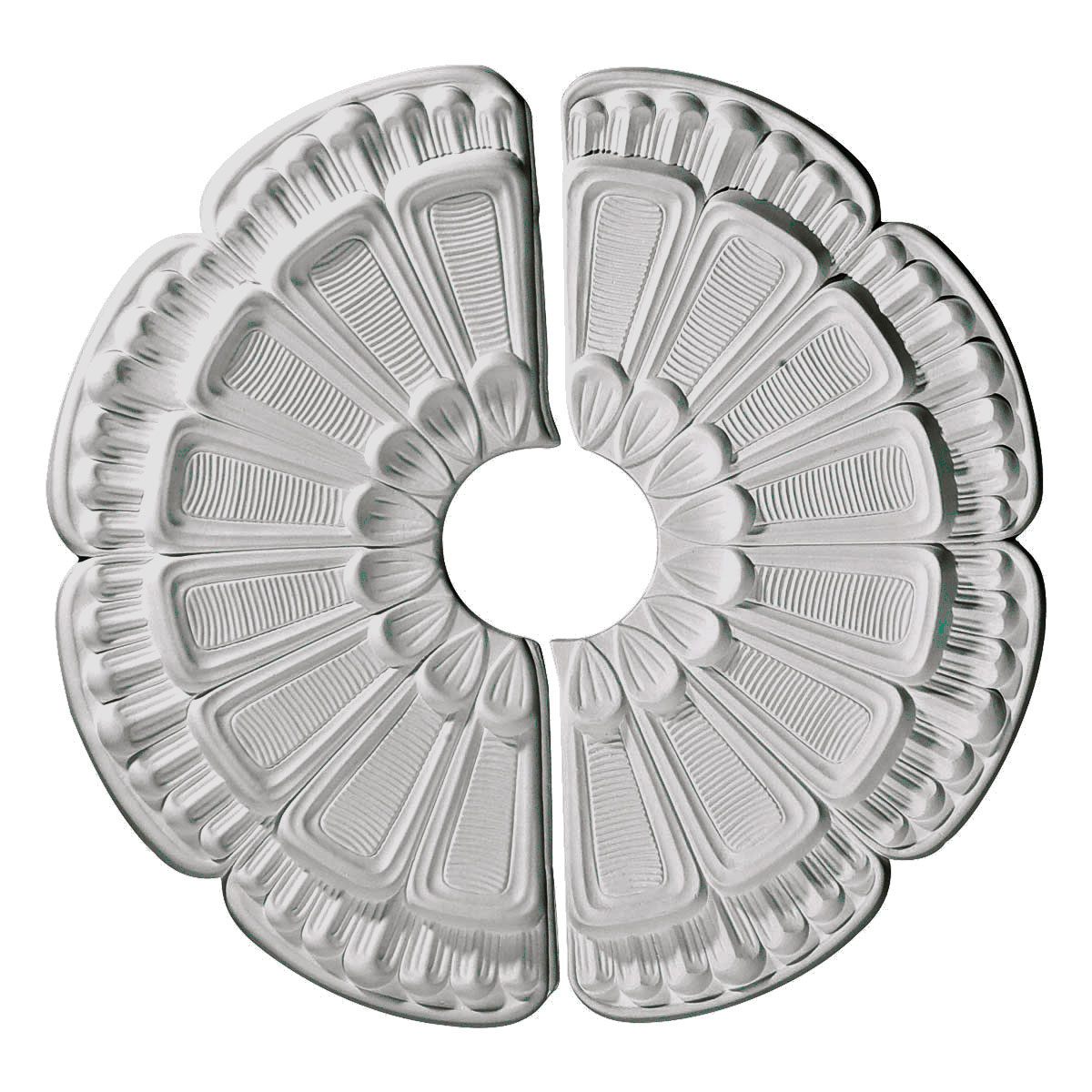 "Ekena Millwork CM18FW2 18.5"" Wide Flower Ceiling Medallion, Two Piece"