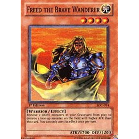 Yu-Gi-Oh! - Freed the Brave Wanderer (IOC-014) - Invasion of Chaos - 1st Edition - Super Rare, A single individual card from the Yu-Gi-Oh!.., By YuGiOh 220 Rare Single Card