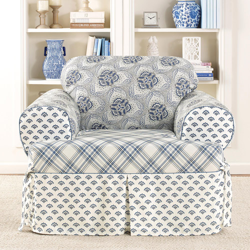 Sure-Fit Amelie Club Chair T-Cushion Slipcover