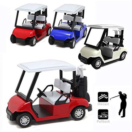 Liberty Imports 6 Pack Die-cast Metal Golf Cart Model Toy 1:20 Scale Vehicle (4½ Inches) - image 1 of 4