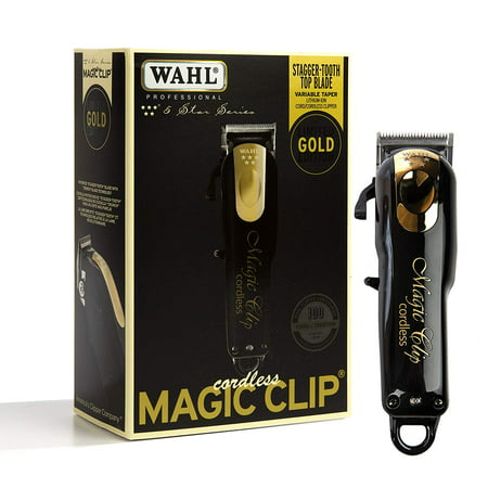 Wahl Professional 5-Star Limited Edition Black & Gold Cordless Magic Clip #8148-100