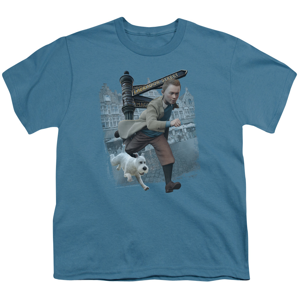 Tintin Labrador Street Big Boys Youth Shirt