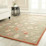 Martha Stewart  Poppy Glossary Cayenne Red Wool/ Viscose Rug (9' x 12')